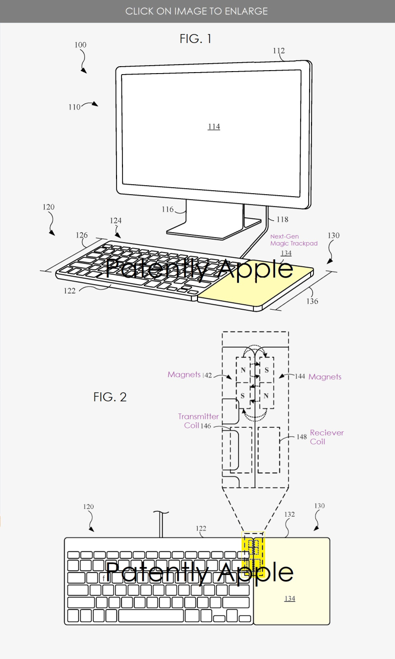 2 x next-gen Magic trackpad magnetic attachable to keyboard