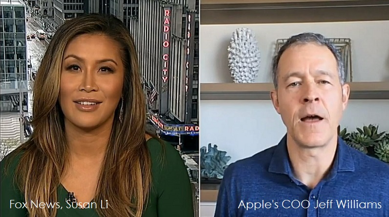 1 x Cover Fox News intervview with Apple's COO