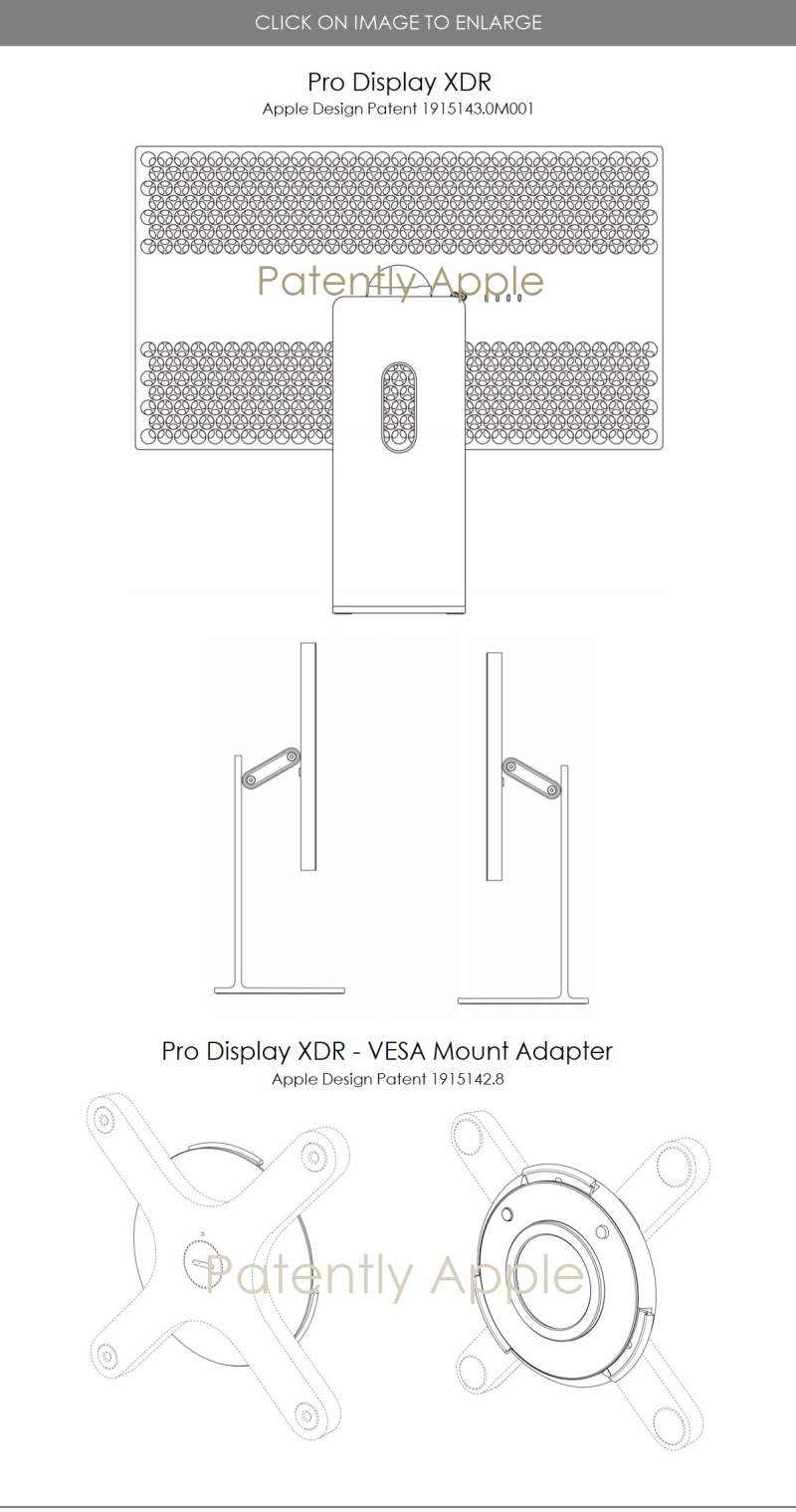 2 pro display XDR Apple design patent 1915143.0M004