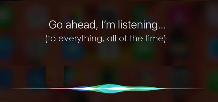 1 x Cover Siri listening  to everything
