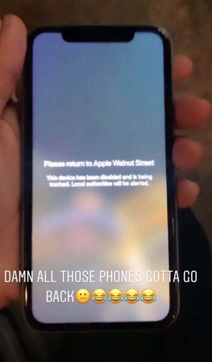 2 Message from Apple - hey stupid  please return this stolen iphone to X Apple Store