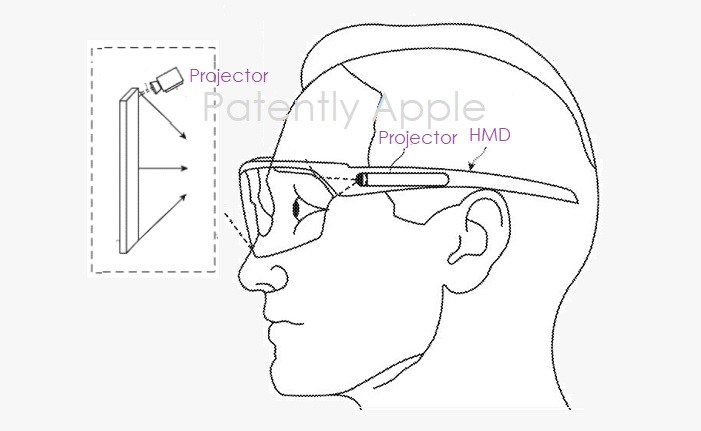 3 smartglasses  Apple patent figure