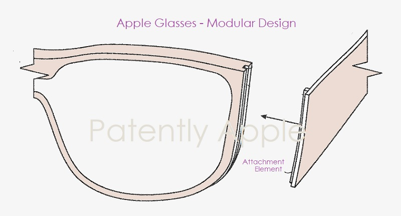 1 X Cover - Apple  modular Glasses - Patently Apple report