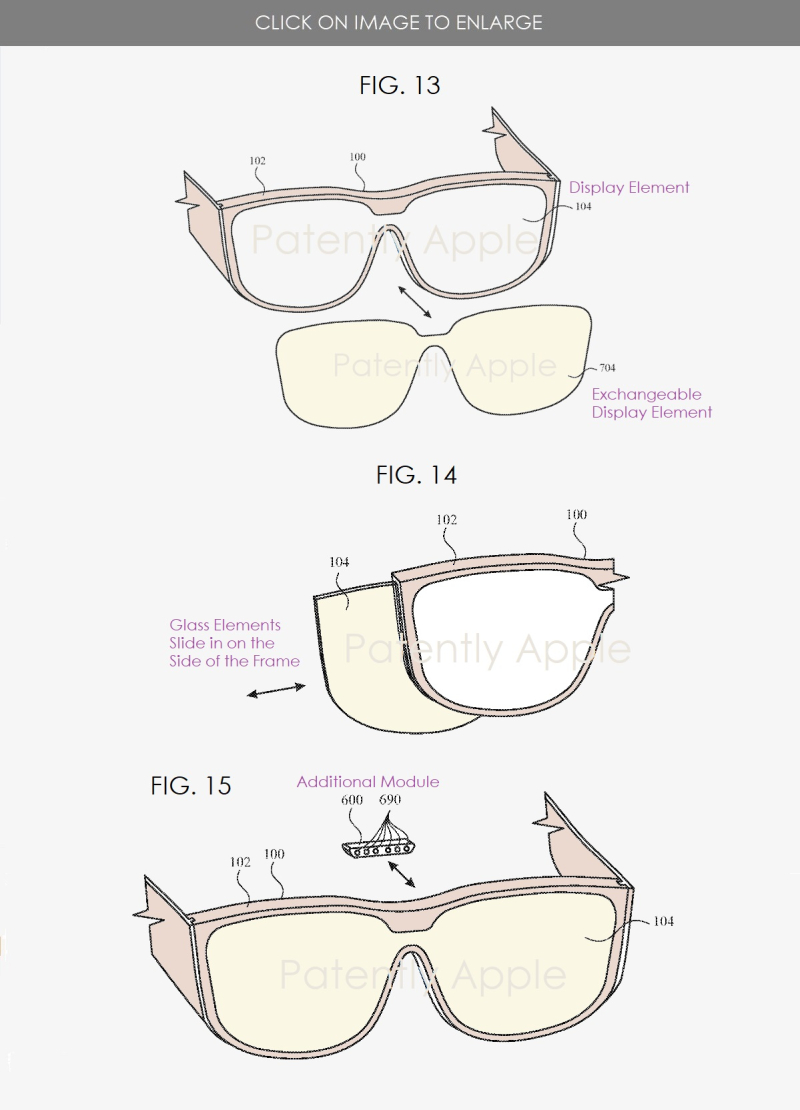 5 Apple Glasses patent figures
