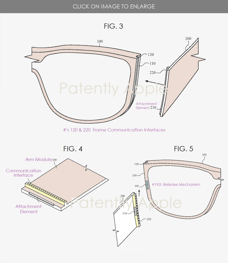 3 Glasses  modular in design Patently Apple report