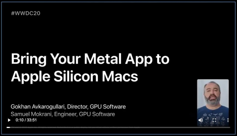 7 Bring your Metal App to Apple Silicon Macs Sessionn
