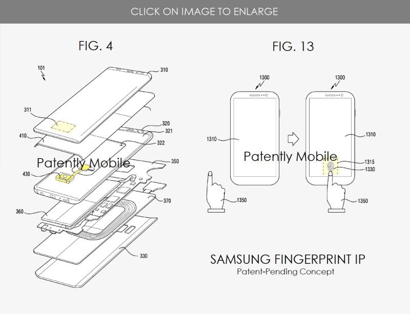 3 samsung fingerprint ID patent june 2020