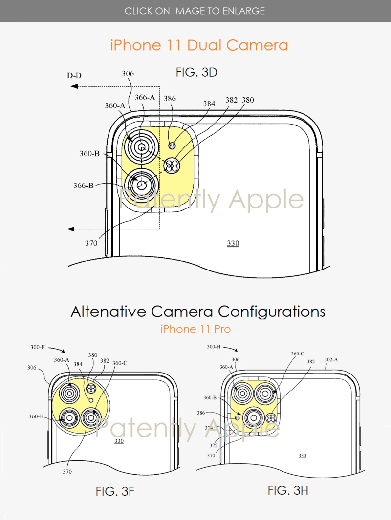 3 iPhone 11 dual camera config + Alternative triple camera iPhone 11 Pro