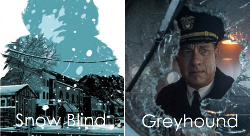 1 X2 - cover Snow Blind & GreyhounD