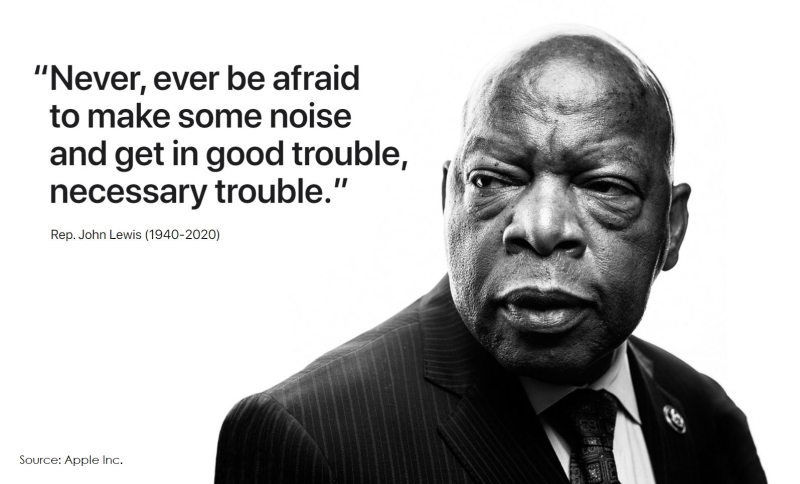 2 John Lewis photo and quote from Apple homepage jul 19  2020