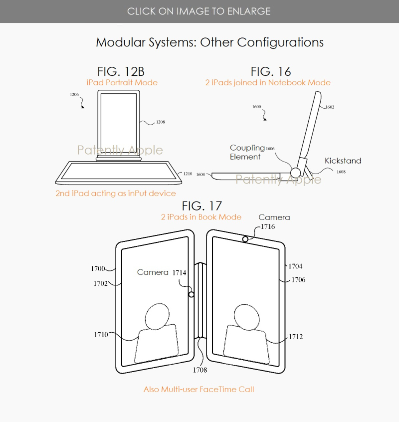4 alternative modes of operation of dual iPad configurations