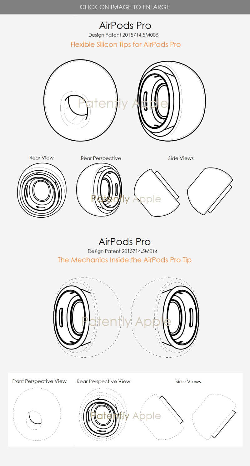 2 x Final - AirPods Pro design patent with silicon tips