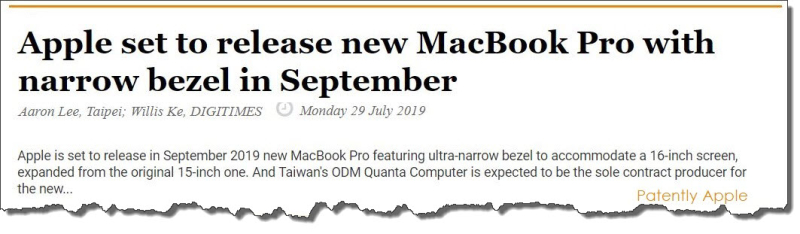 2  FINAL - Digitimes ultra-narrow Bezel MacBook Pro