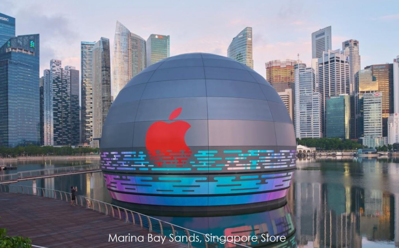 1 x cover Singapore  new apple store