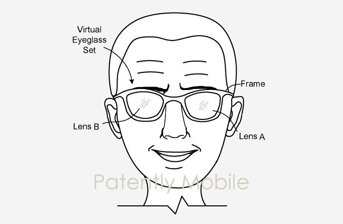 1 x Cover Google smartglasses patent figure