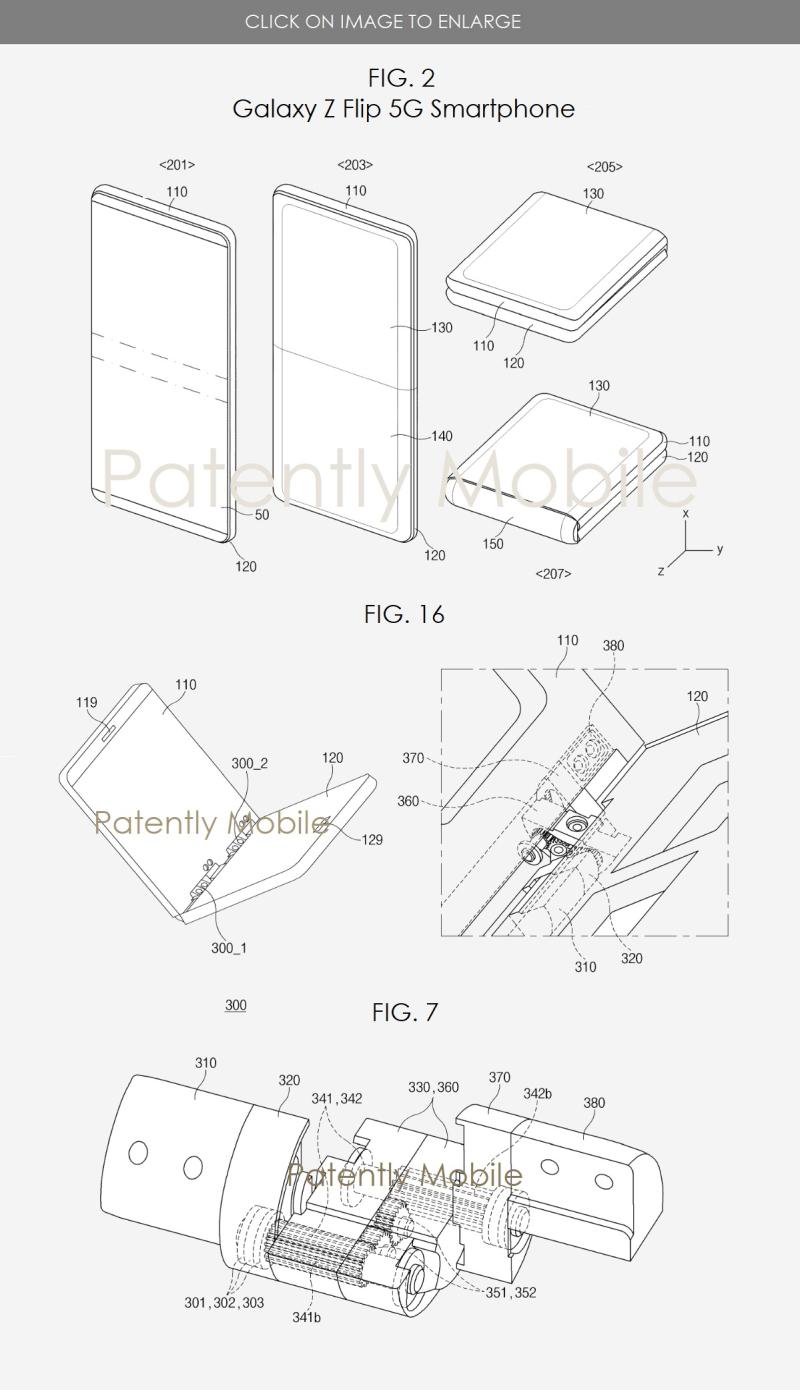2 Samsung Galaxy Z Flip 5G smartphone wins patent