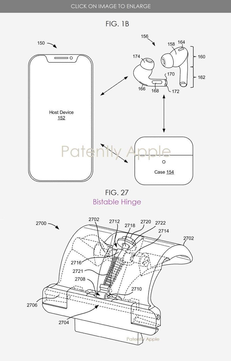 2 AirPods Pro Case Hinge system granted patent