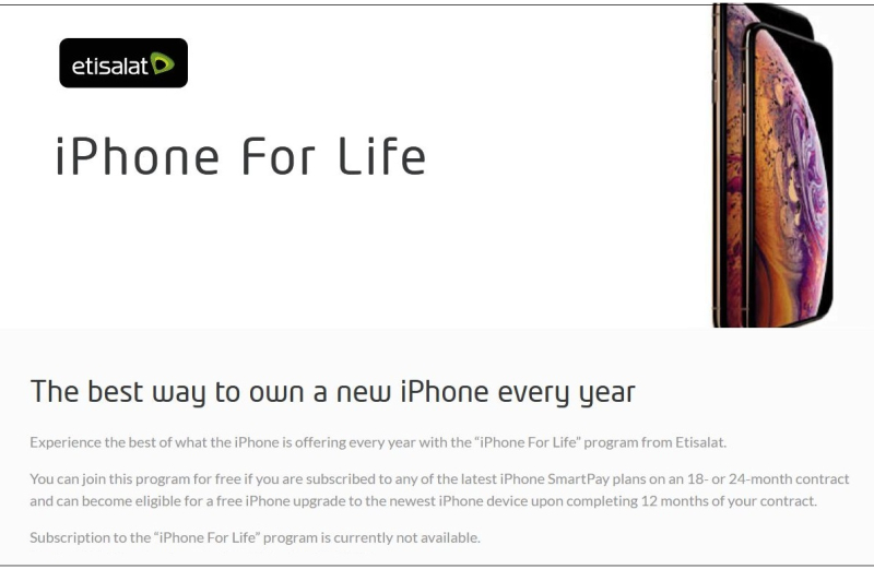 3 iPhone for Life slogan for Etisalat