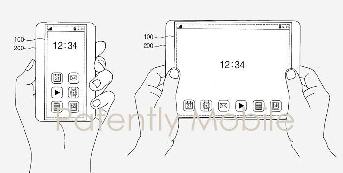 2 samsung expandable smartphone frame and display
