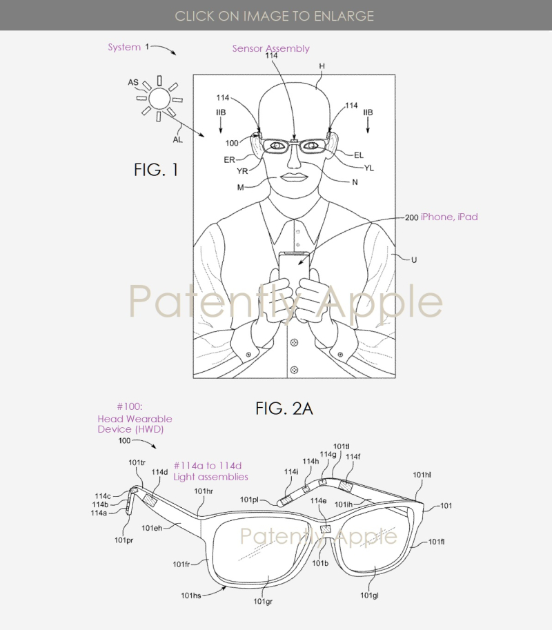 3 apple headset patent figs 1 and 2