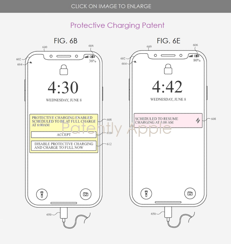 2 figs. 6K & 7A Apple Protective Charging Patent