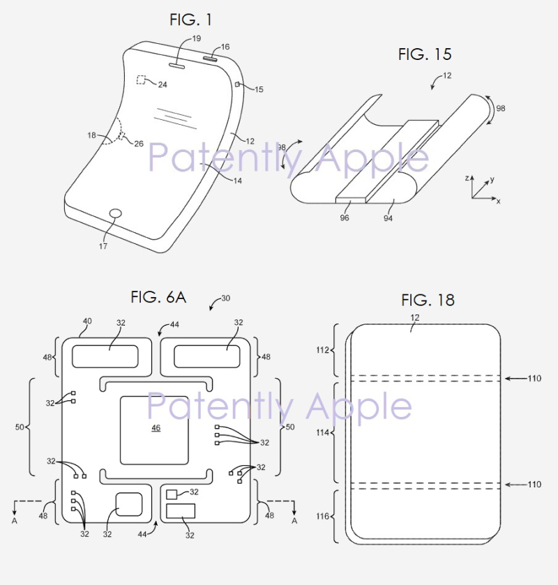 2 -   flexible foldable device patent figs 1  15  6a and 18