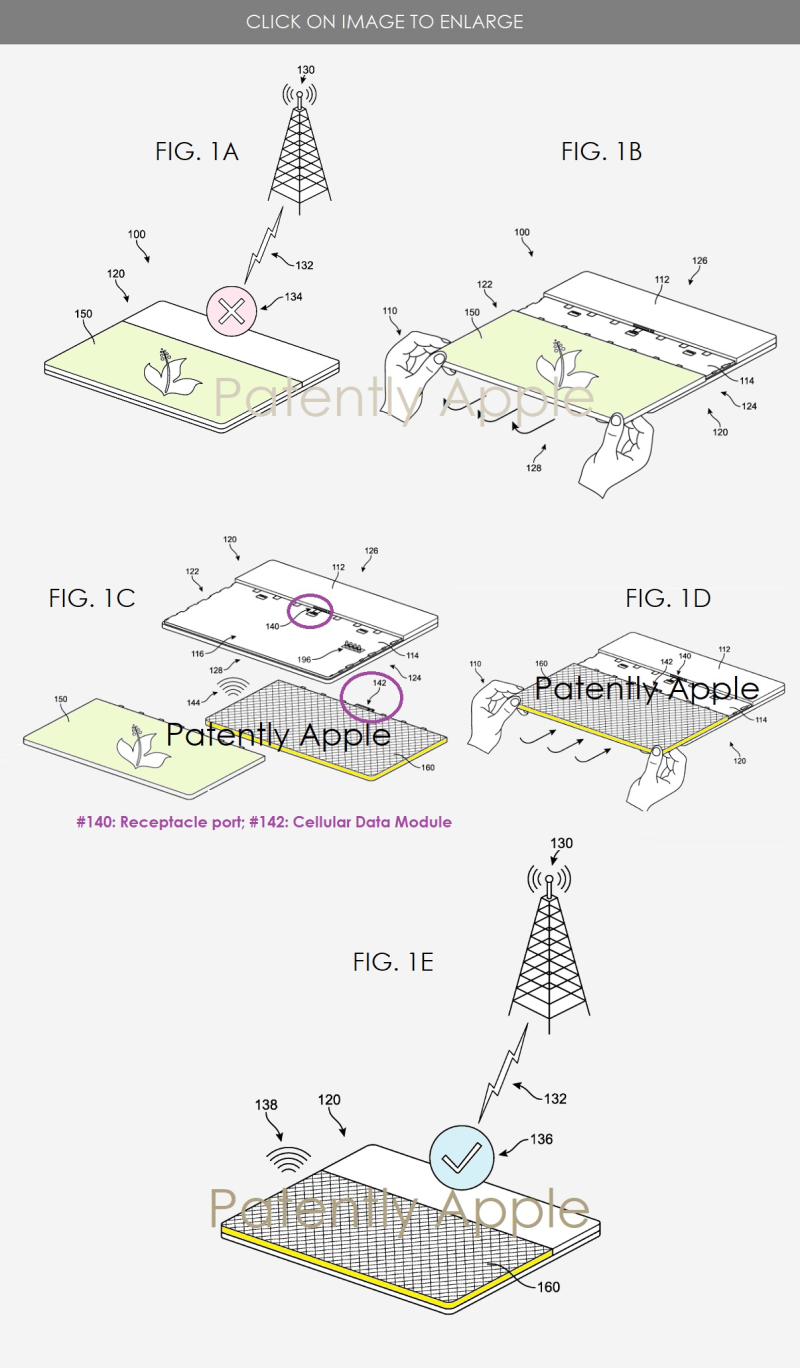 2 xx microsoft series of patent figures for new cellular Surface Book concept