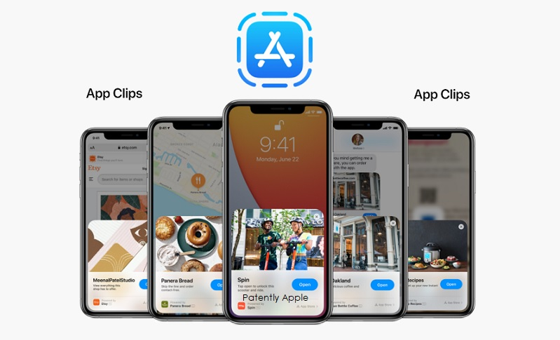 1 Cover - Apple  App Clips - TM Report  Patently Apple