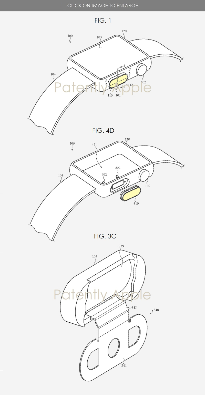 2 APPLE WATCH WITH TOUCH ID BUTTON FIGS
