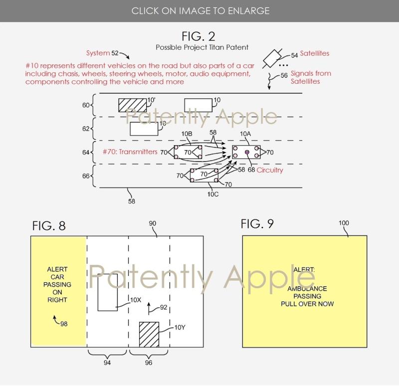 3 X  alert system  project titan patent figs