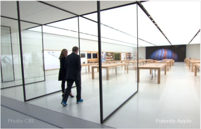 1 x cover Apple Retail Store Rotating Doors