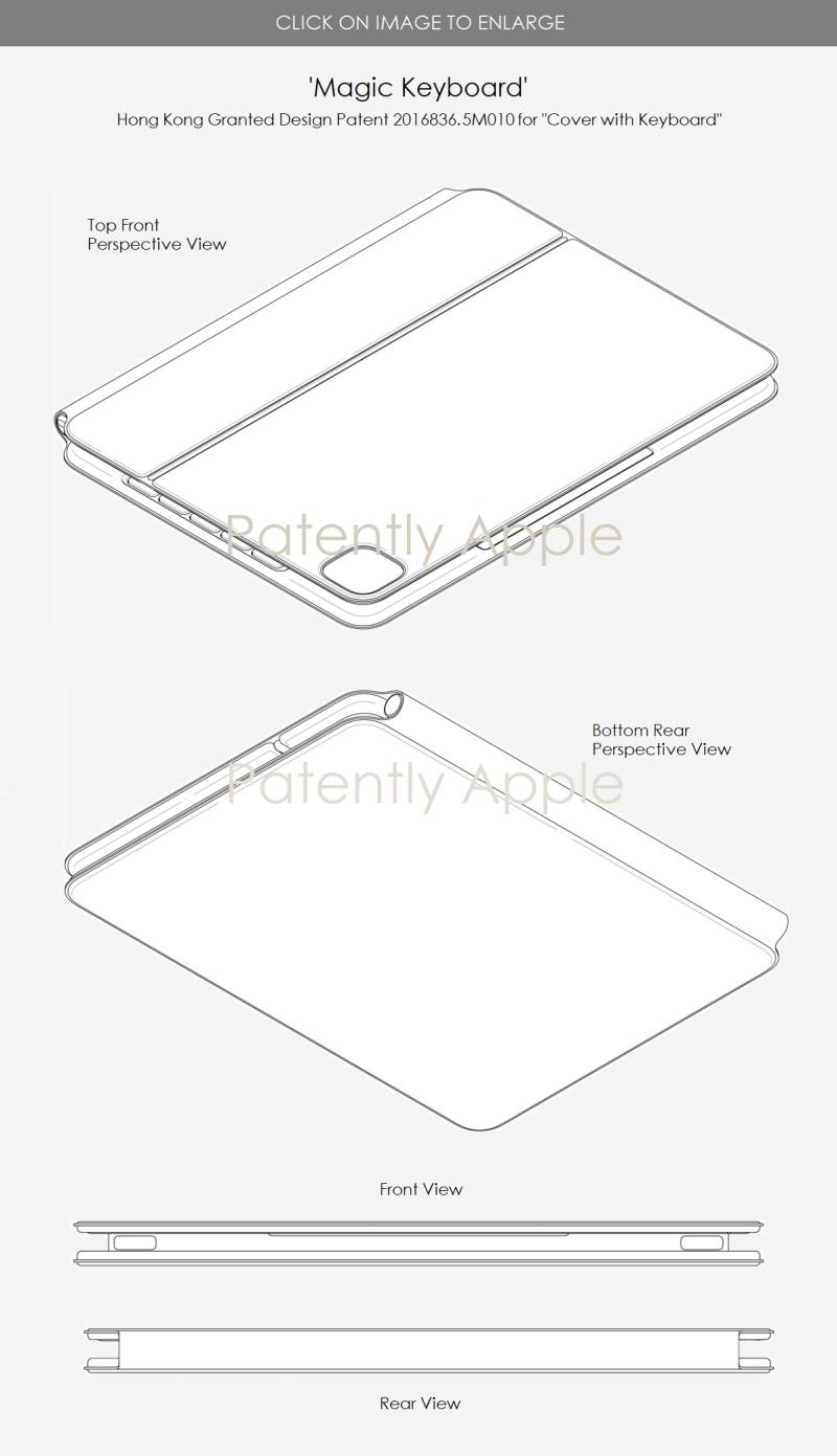 3 X Apple Design patent 2016836.5M010 Magic Keyboard Jan 8 2021 - Patently Apple Report Jan 10  2021