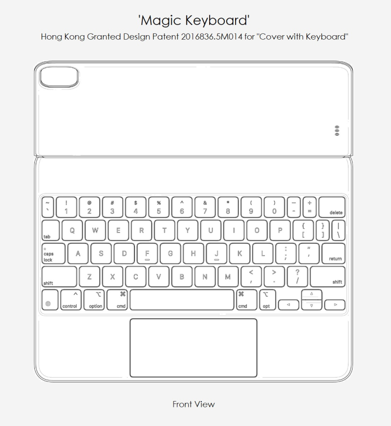 4 Apple design Patent for Magic Keyboard