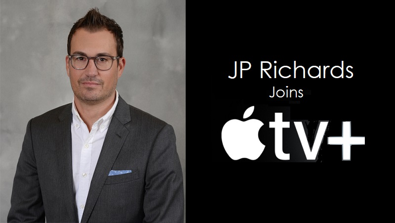 1 x cover JP Richards joins Apple TV+ team