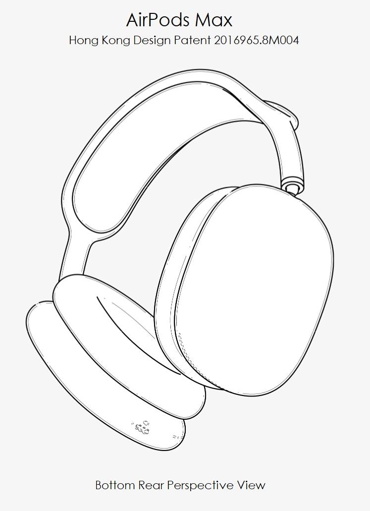 2 AirPods Max design patent 2016965.8M004