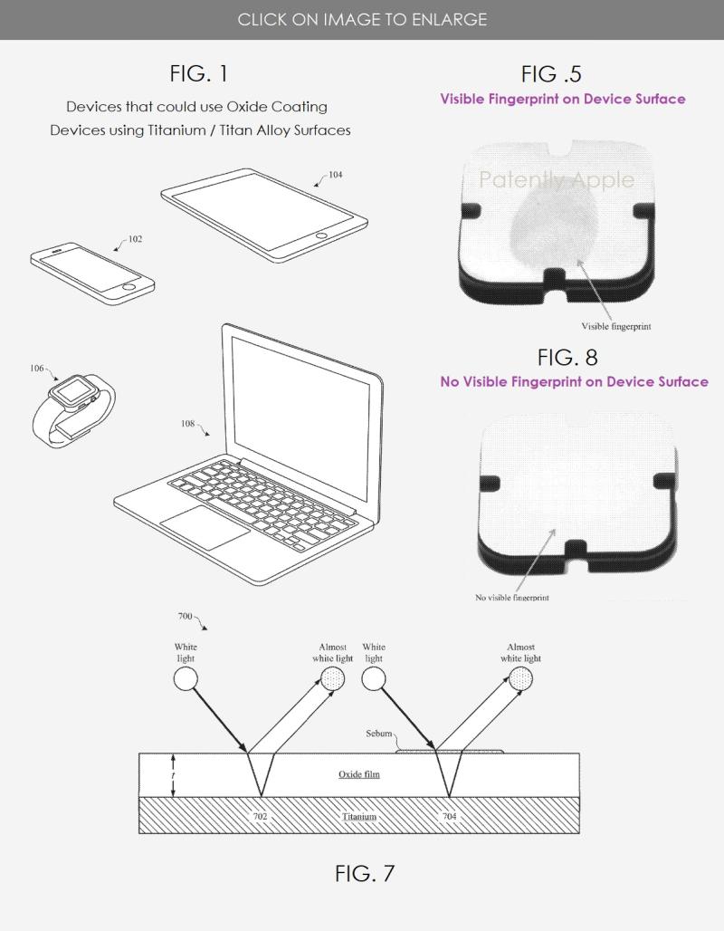 2 - Apple granted patent figures  Titanium devices using an anti-fingerprint coating