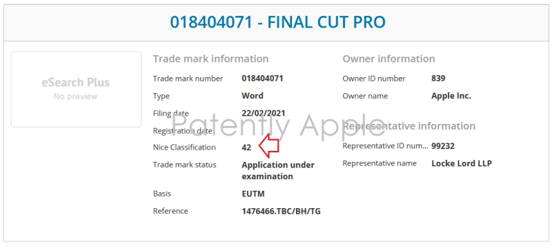 2 Final Cut Pro TM Application adds class 042