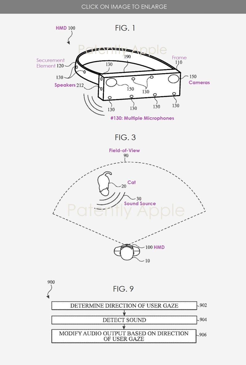2 HMD patent figures - Apple patent application