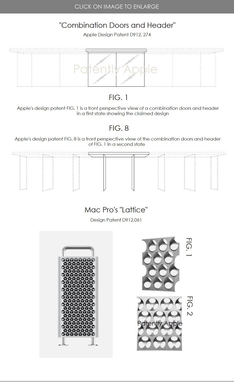 3 granted design patents for Apple Mar 02  2021