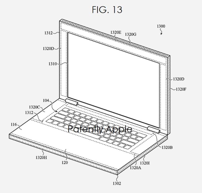 4 apple patent figure  multiple haptic regions