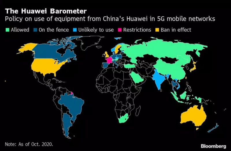 2  x bloomberg  Huawei 5G networks
