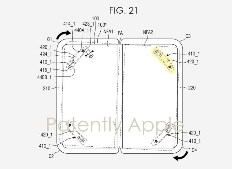 2 patent pending samsung galaxy Z Fold patent  new construction