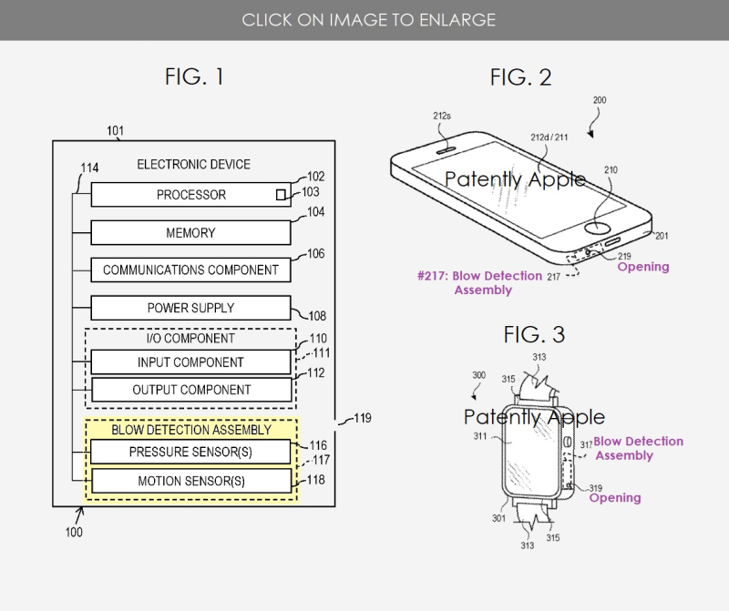 2 apple blow event patent figs