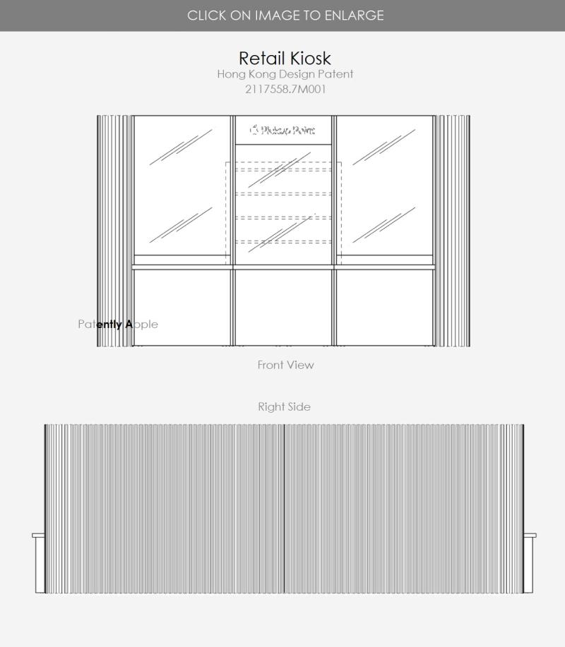 2 Apple Retail Kiosk - 2 patent figures - Patently Apple report Apr 10  2021