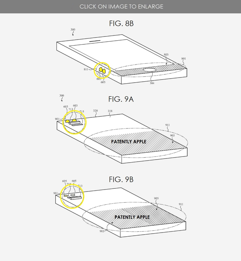 3 x APPLE PATENT  TACTILE OUTPUT PATENT FIGS