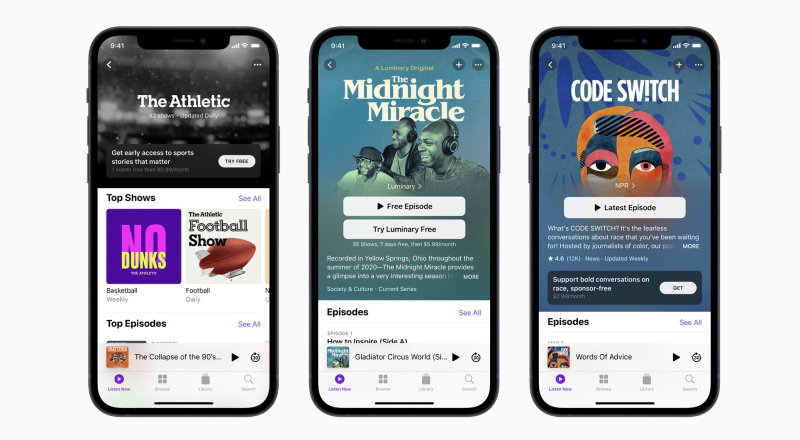 5 Apple podcast subscriptions