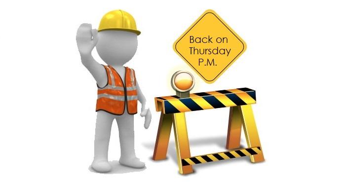 1 X Back on Thursday P.M.