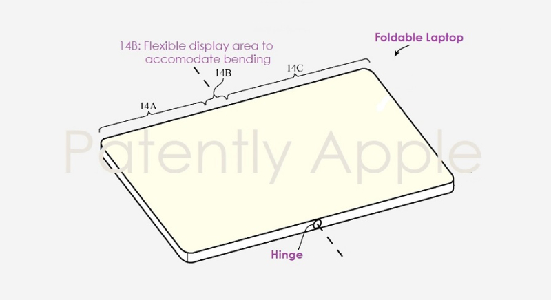 1 cover foldable laptop  Apple patent figure