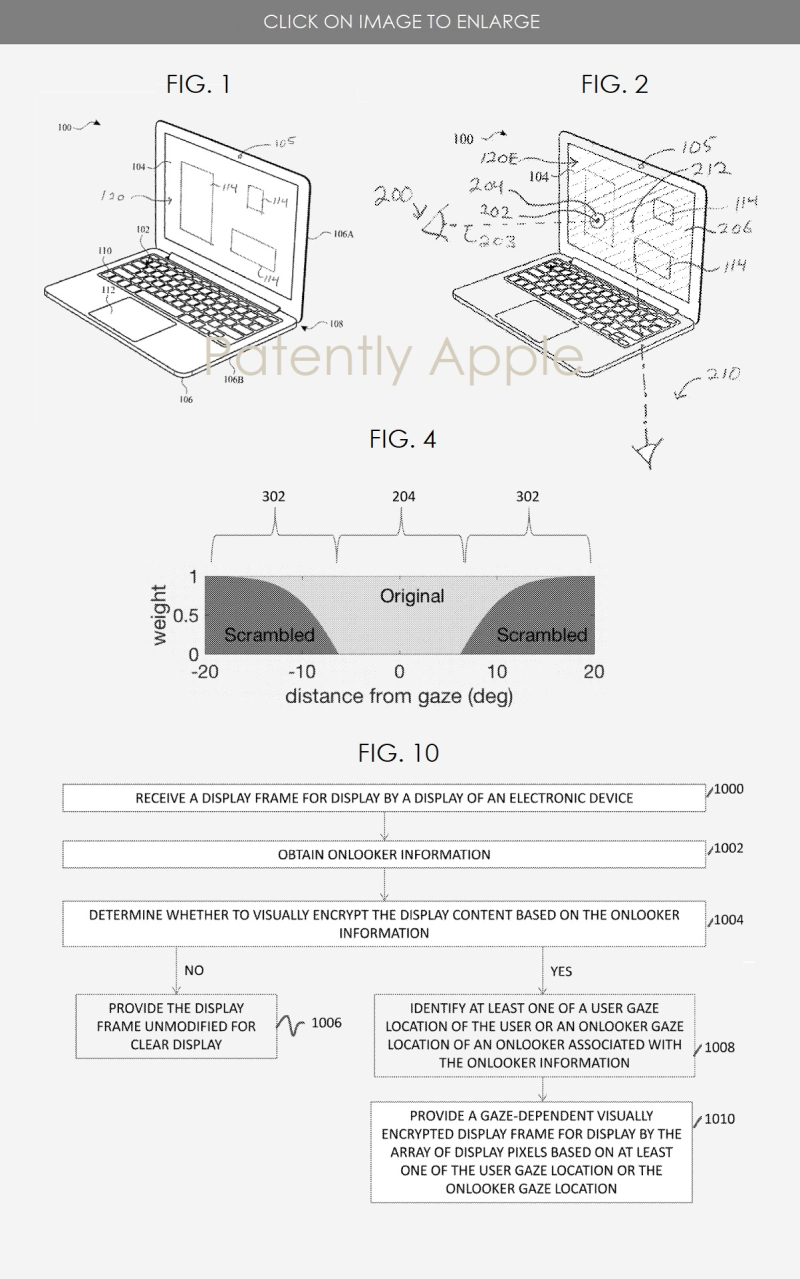 2 apple patent privacy display