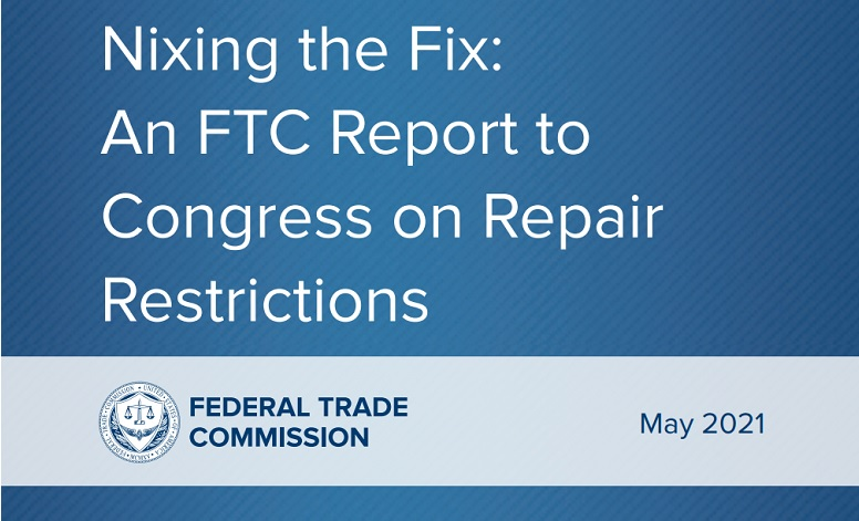 1 cover FTC REPORT ON REPAIRABILITY